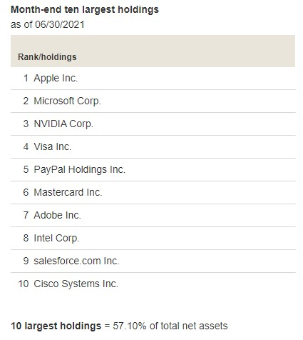VGT Top 10 Holdings